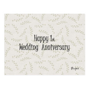 Happy 1st. Wedding Anniversary Postcard