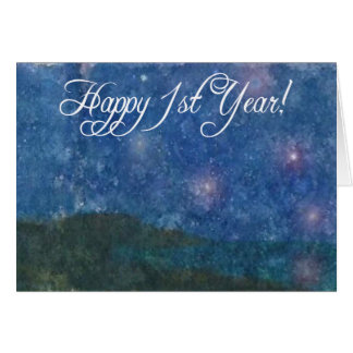 Happy 1st Year Sobriety Card