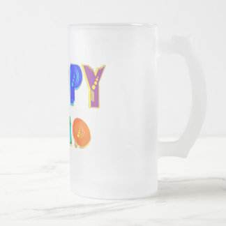 happy 2010 Happpy 2010 HAPPPPY 2010 gifts 16 Oz Frosted Glass Beer Mug
