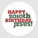 Happy 2010th Birthday Jesus Stickers