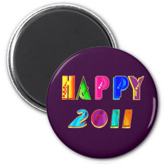 Happy 2011 New Year Party gifts and shirts Refrigerator Magnet