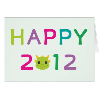 Happy 2012, the Year of the Dragon! Card