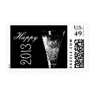 Happy 2013 Bubbly Postage Stamps