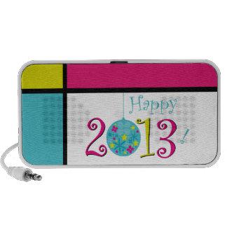 Happy 2013 doodle mini speakers