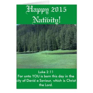 Happy 2015 Nativity Card