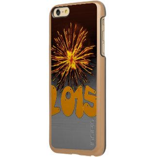 Happy 2015 silver orange incipio feather® shine iPhone 6 plus case