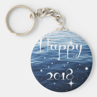Happy 2018 keychain