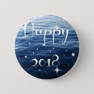 Happy 2018 pinback button