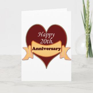 Happy 20th. Anniversary Card