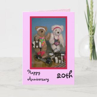Happy 20th Anniversary, Customizable Card