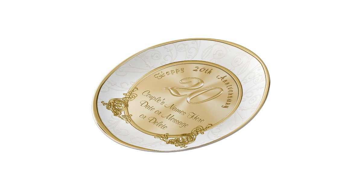 Twenty Wedding Anniversary Gift: Happy 20th Anniversary Gifts PERSONALIZED Plate