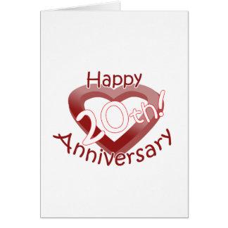 """""""Happy 20th Anniversary"""" Heart design"""