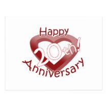 """""""Happy 20th Anniversary"""" Heart design Postcard"""