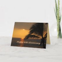 Happy 20th Anniversary Tropical Sunset Card
