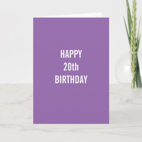 Happy 20th Birthday And Congratulations On Beating Card Zazzle