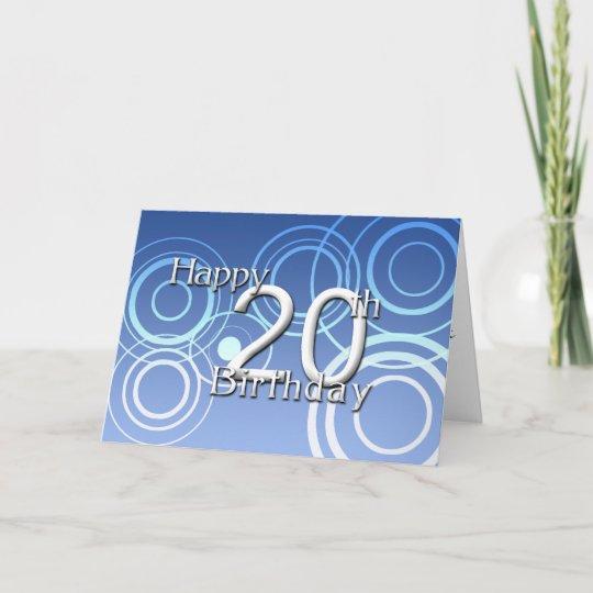 Happy 20th Birthday Birthday Card Zazzle