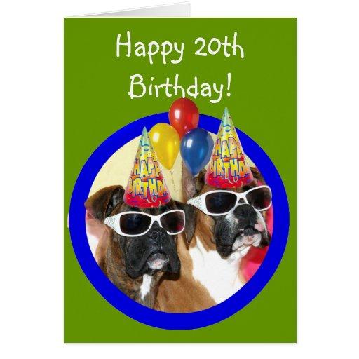 Happy 20th Birthday Boxers Greeting Card Zazzle Happy 20th Birthday Wishes