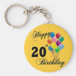 Happy 20th Birthday Gifts and Birthday Apparel Keychain