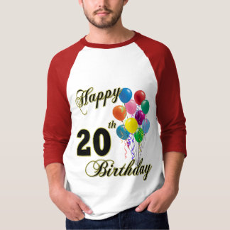 Happy 20th Birthday Gifts and Birthday Apparel T-Shirt