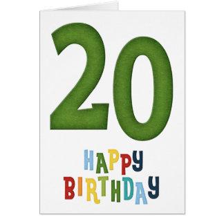 Happy 20th Birthday Greeting Card