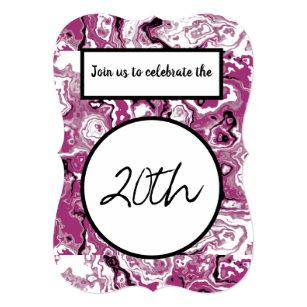 Happy 20th birthday invitations announcements zazzle happy 20th birthday invitations customizable filmwisefo
