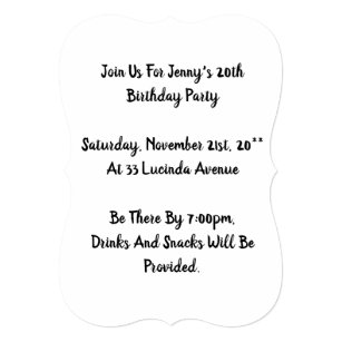 Happy 20th birthday invitations announcements zazzle happy 20th birthday invitations customizable filmwisefo Images