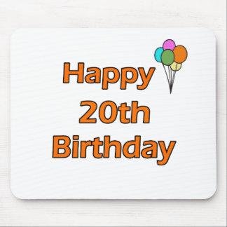 Happy 20th Birthday Mouse Pad