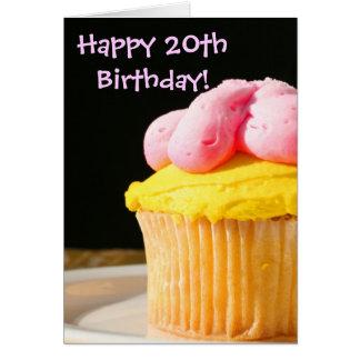 Happy 20th Birthday muffin Greeting Card