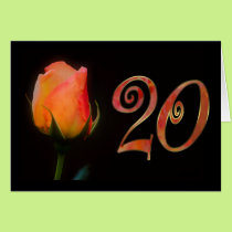 Happy 20th Birthday twenty twentieth 20 20th Card