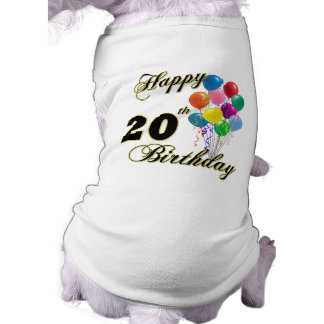 Happy 20th Birthday with Balloons Tee