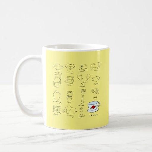Happy 20th Wedding Anniversary Modern Illustration Coffee Mug