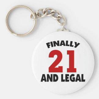 Happy 21 Birthday Keychain