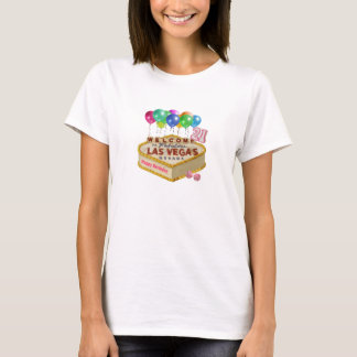 Happy 21 Birthday Las Vegas CAKE Shirt