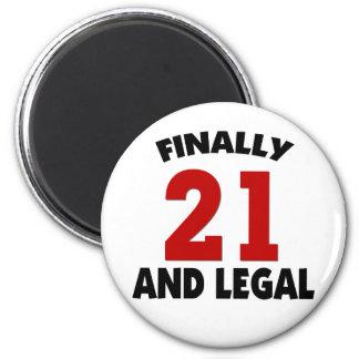 Happy 21 Birthday Fridge Magnet