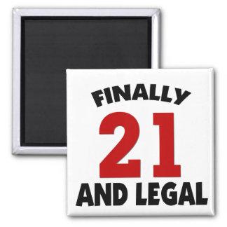 Happy 21 Birthday Refrigerator Magnets