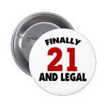 Happy 21 Birthday Pins