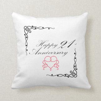 Happy 21st Anniversary pillow