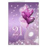 Happy 21st birthday balloons bright greeting card