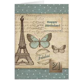 Happy 21st  Birthday  Customizable Greeting Cards Greeting Card
