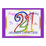 Happy 21st Birthday Daughter! Greeting Card