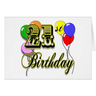 Happy 21st Birthday Merchandise Greeting Card