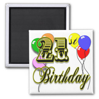 Happy 21st Birthday Merchandise Fridge Magnets