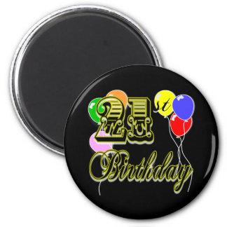 Happy 21st Birthday Merchandise Magnet