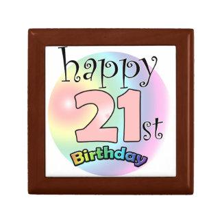 Happy 21st Birthday (pink) Gift Box