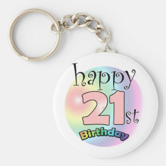 Happy 21st Birthday (pink) Keychain