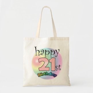 Happy 21st Birthday (pink) Tote Bag