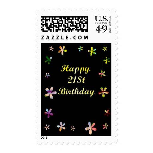 Happy 21St Birthday Postage