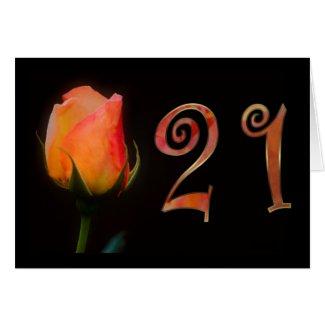 Happy 21st Birthday twentyfirst twentyone 21 21st Card