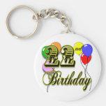 Happy 22nd Birthday Merchandise Key Chain