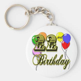 Happy 22nd Birthday Merchandise Keychain